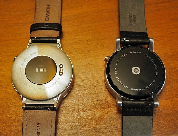 Huawei Watch, Moto 360 Backs