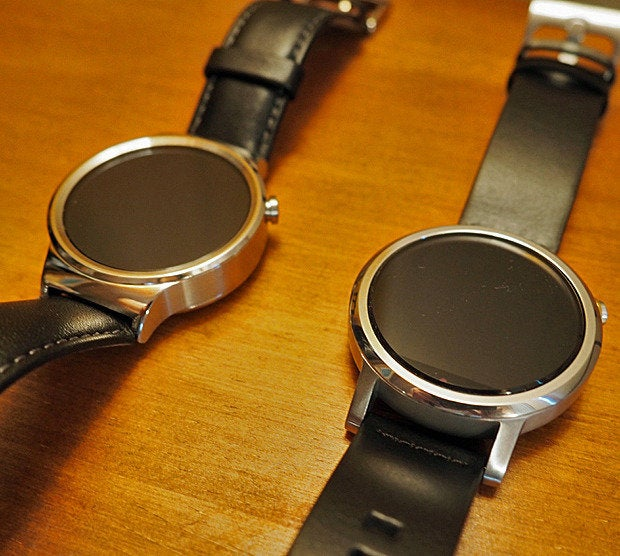 Huawei Watch, Moto 360 (close)