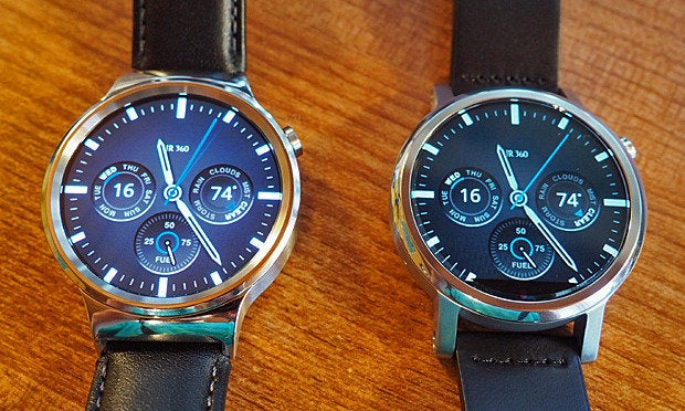 Huawei Watch, Moto 360 faces