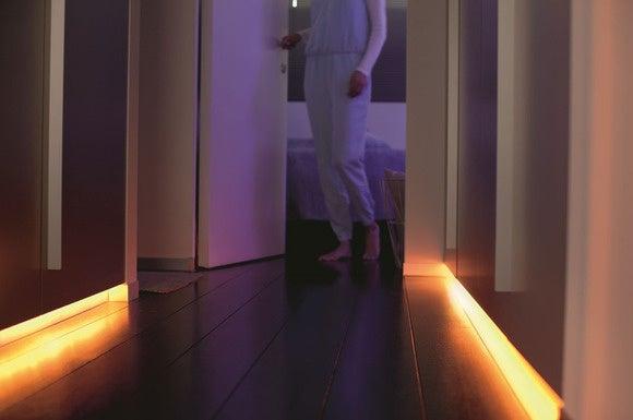 hue lightstrip plus hallway