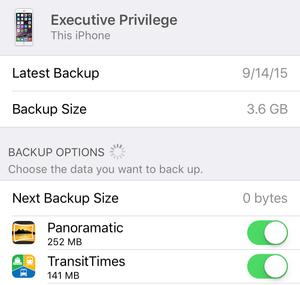 icloud storage manage device backups