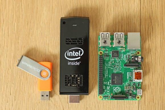 intel computestick sizecomparison rpi2