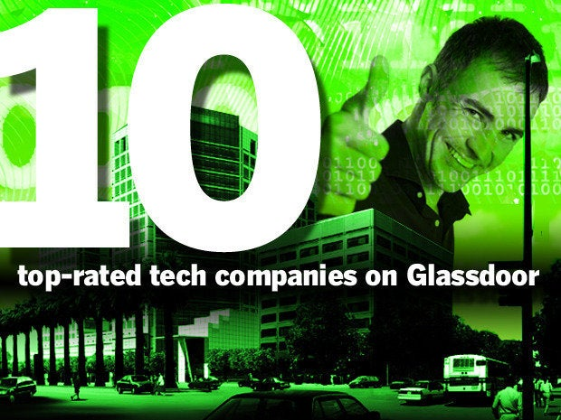 Top-rated tech companies on Glassdoor