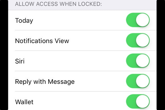 ios 9 access wallet from locked screen