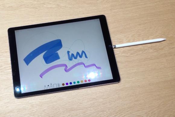 ipad pro apple pencil plugged in