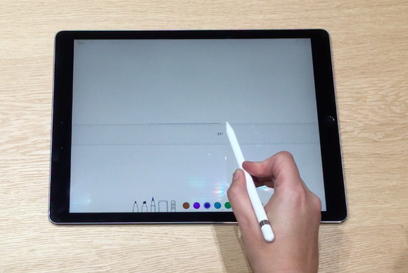 ipad pro apple pencil ruler