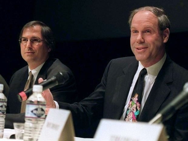 Steve Jobs and Michael Eisner