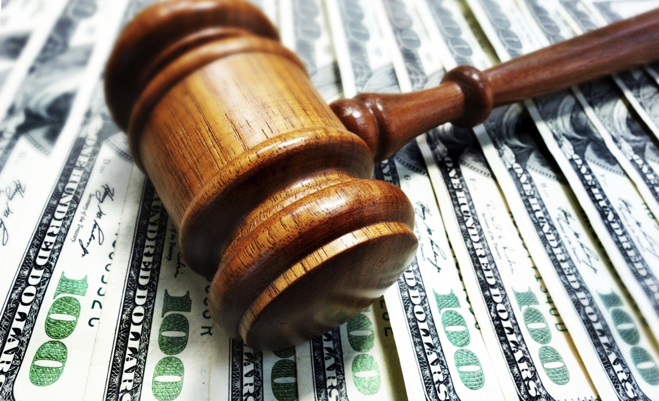 lawsuit judge law court decision sued money