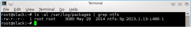 Linux NTFS NTFS-3G package