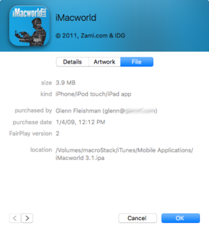 mac911 itunes app purchaser info