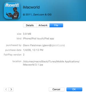 mac911 itunes app purchaser info