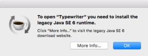 mac911 java legacy install prompt