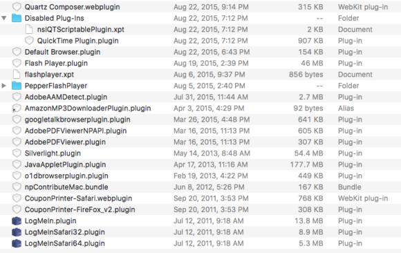 mac911 legacy installed plugins