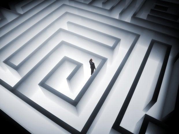 maze lost question direction wayward