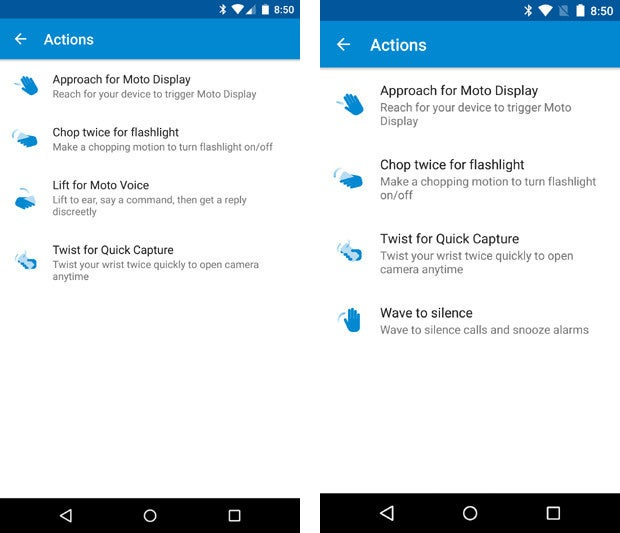 Moto X Actions - Pure Edition vs 2014