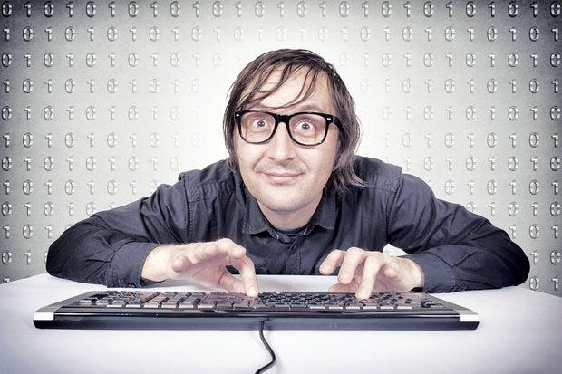 nerd hacker programmer