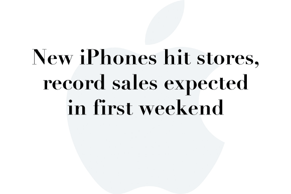 new iphone sales