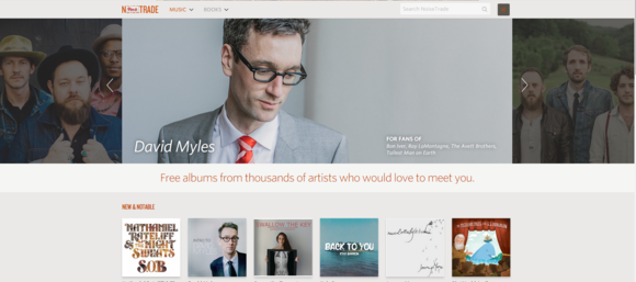 noisetrade main page