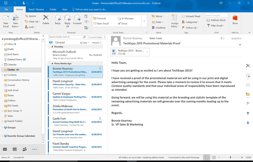 outlook 2016 for windows