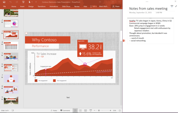 office 2016 onenote linking