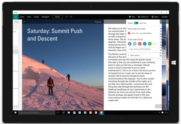 office 2016 review sway demo shot