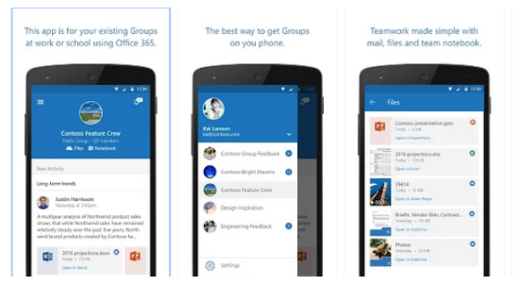outlook groups for android