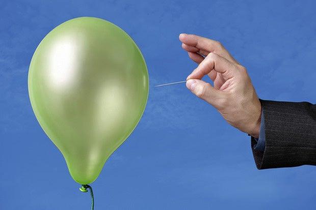 pin popping balloon