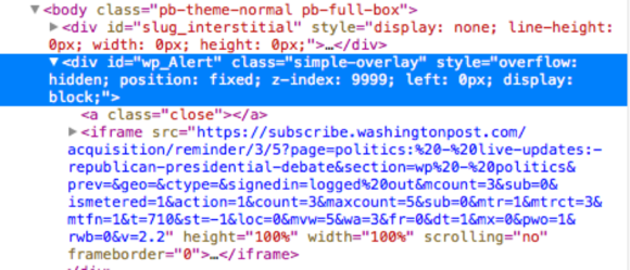 popover blocking wp box html
