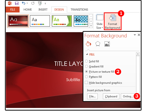 Powerpoint background tips: How to customize the images, colors ...