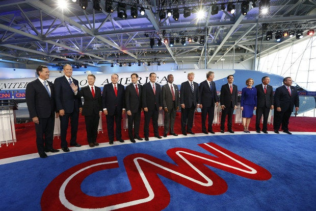 GOP candidates at debate no. 2