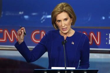 Former HP chief Carly Fiorina at GOP debate
