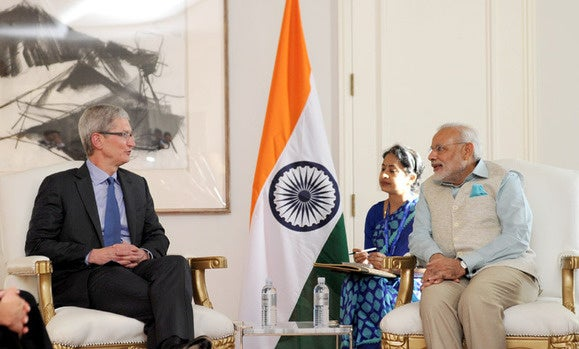Modi and Tim Cook