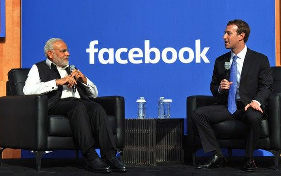 Modi and Zuckerberg at Facebook