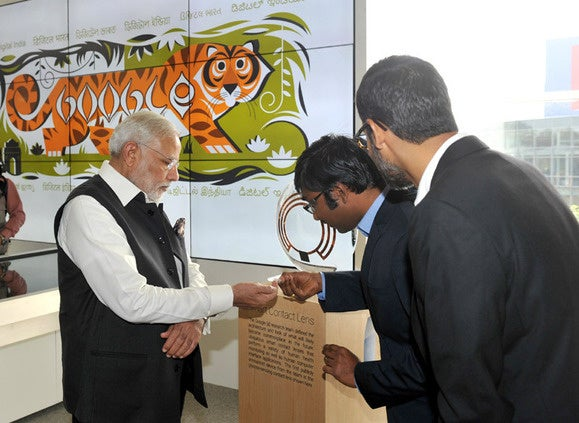 Modi with Google contact lens