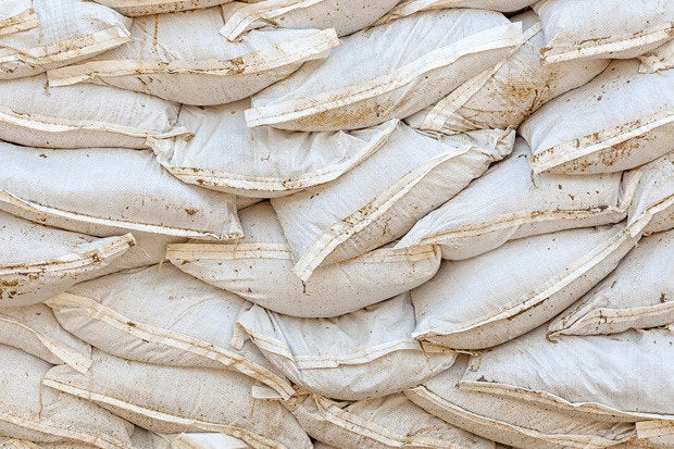 sandbags flood protection breach