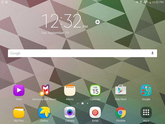 tabs2 home screen