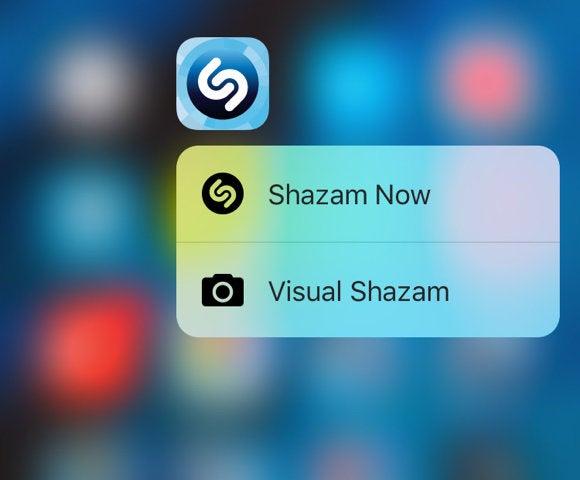shazam 3d touch