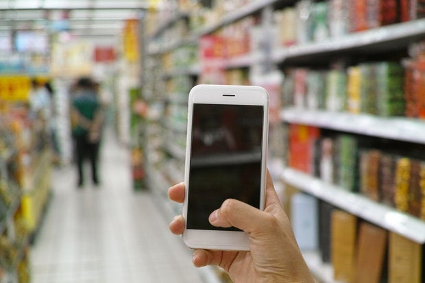 smartphone shopping mobile device