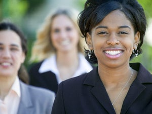 smiling business woman black african