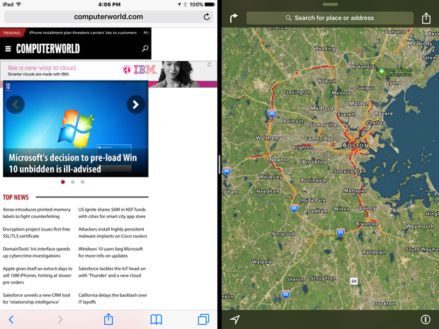 split screen on ipad