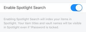 spotlight 1password enable