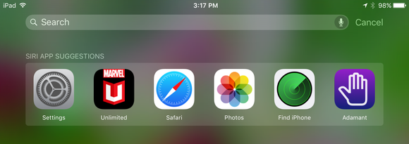 spotlight ios 9 suggested apps