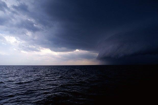 stormclouds danger warning