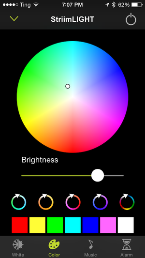 Striimlight speaker/light control app