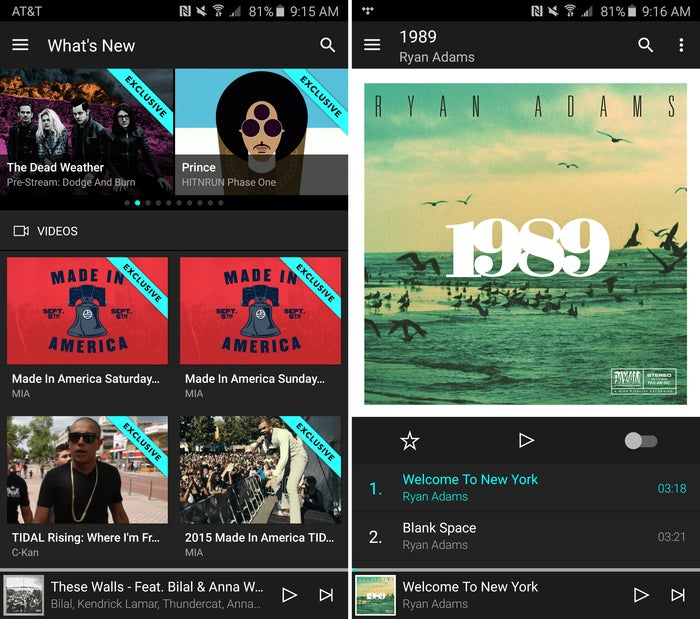 subscription media tidal