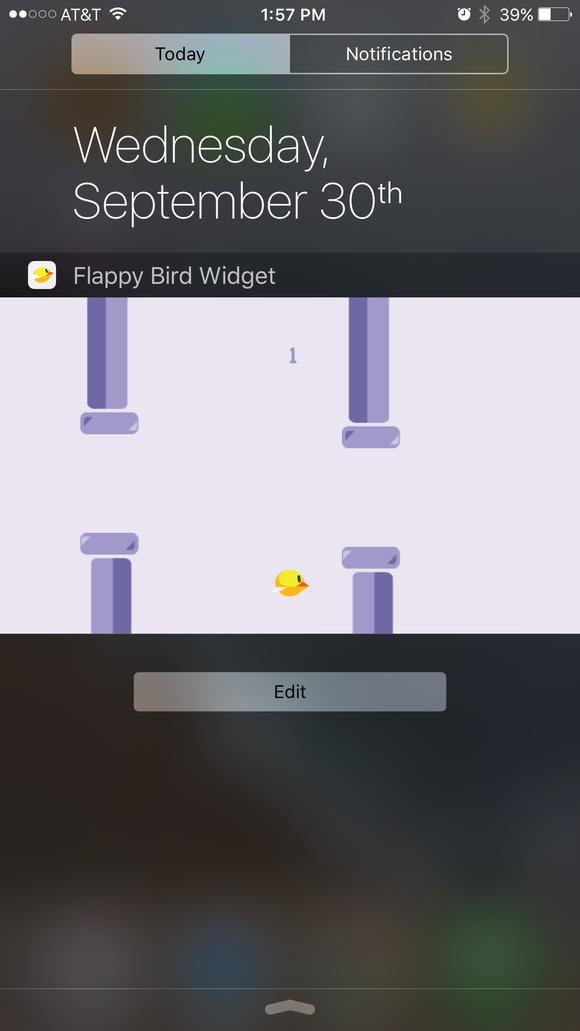 tappy bird widget