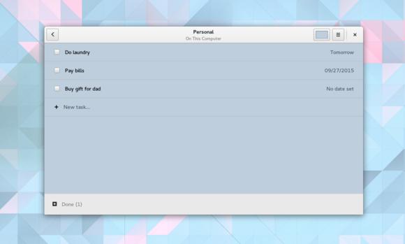 todo GNOME 3.18