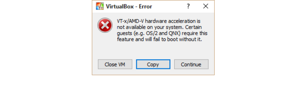 Virtualbox vt x amd v error dialog