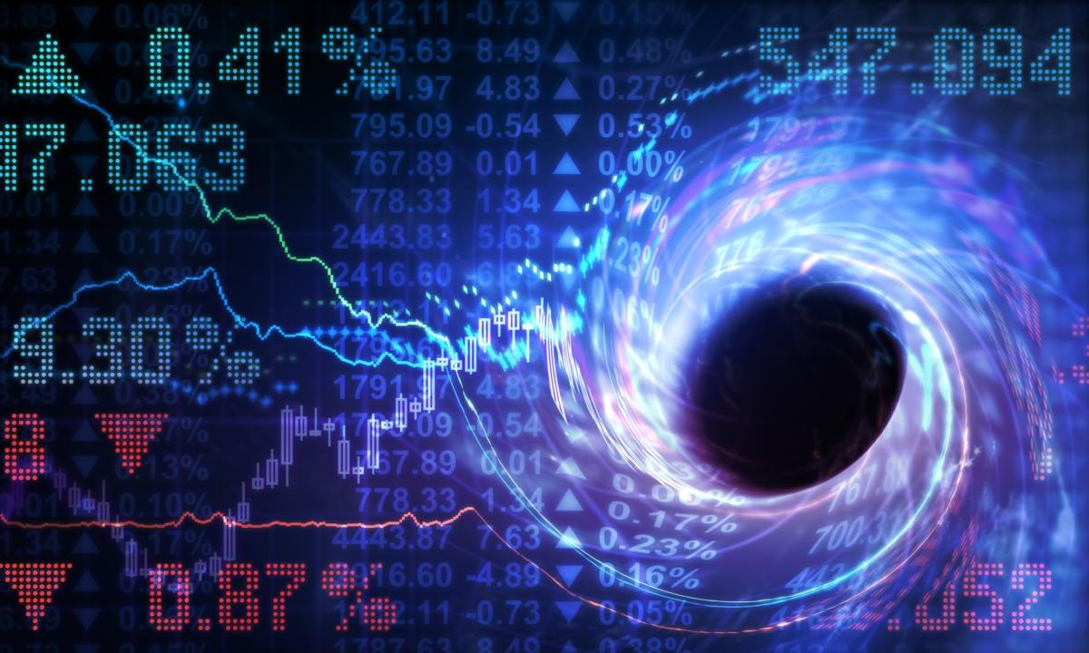 volitale up down market stocks mixed black hole