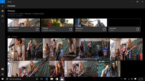 windows 10 mobile photos